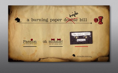 DVD-Menue | A Burning Paper Triple Bill-Burning Paper Productions