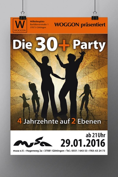 Plakat | Die 30+ Party